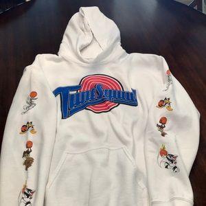 Men's medium PacSun Tune Squad white hoodie